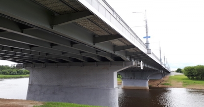 The reconstruction of the bridge across the river Dnieper along Pushkinsky Prospekt  is completed.